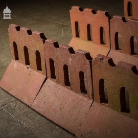 Batch of 16 Clay Thumbnail Crested Ridge Tiles