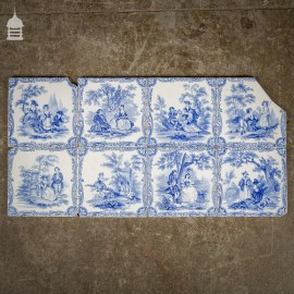 Set of 8 Original Blue and White Decorative 6x6 Tiles