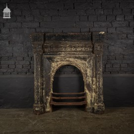Victorian Combination Fireplace Surround with Distressed Paint