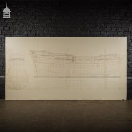 Huge Scale Diagram of 3rd Rate Maritime Nautical War Ship