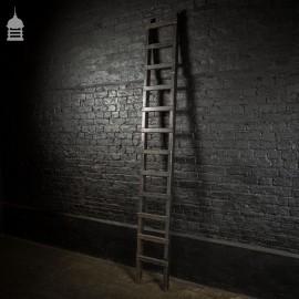 Reclaimed Industrial Black Painted Workshop Ladder