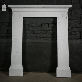 Painted White Pine Fire Surround made from Reclaimed Wood