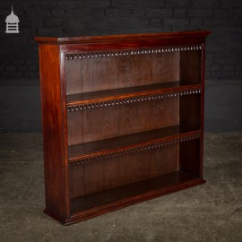 19th C Mahogany Counter Top Shelving Unit with Decorative Gothic Carved Detail