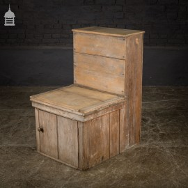 19th C Distressed Pine WC Thunderbox Toilet