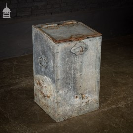 Bygone Galvanised and Riveted Feed Bin Seed Storage with Handles
