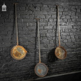 Set of 3 Large Industrial Steel Ladles from a Foundry