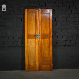 Small Mahogany Double Doors from a Yacht with Original Fixtures