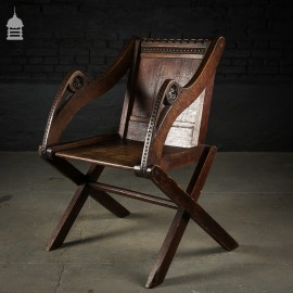 Victorian Gothic Revival Carved Oak Chair
