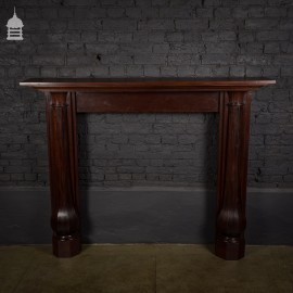 19th C Mahogany Fireplace Surround with Octagonal Columns