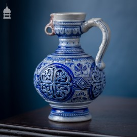 Westerwald Eagle Blue and White Jug