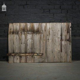 Short Wide Pine Ledged and Braced Barn Door