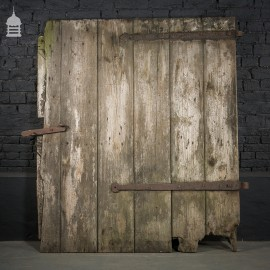 Large Ledged and Braced Pine Barn Door