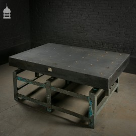 Huge Industrial Granite Topped Machine Table with Steel Base
