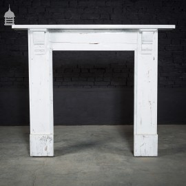 Victorian Painted Pine Fire Surround with Corbels