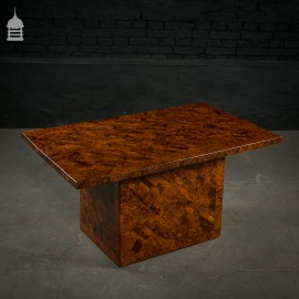 Stunning 20th C Burr Yew Marquetry Coffee Table