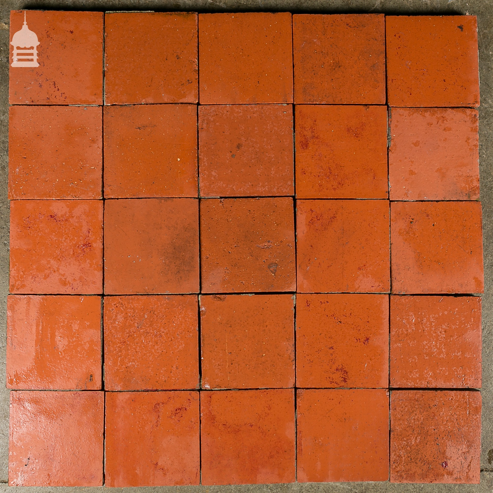 reclaimed 6x6 thick red quarry tiles 6 inch x 6 inch floor tiles. Black Bedroom Furniture Sets. Home Design Ideas