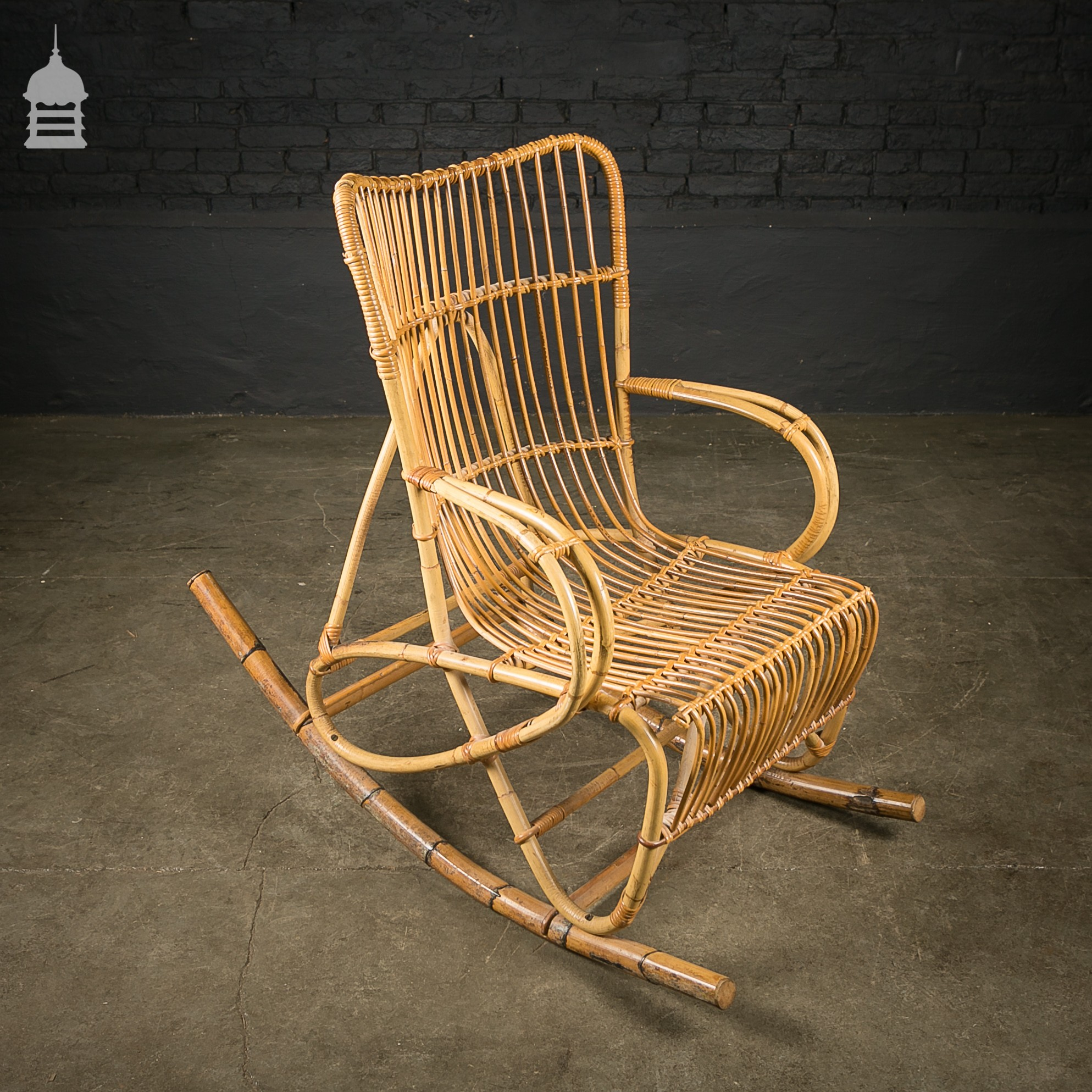 immaculate cane rocking chair. Black Bedroom Furniture Sets. Home Design Ideas