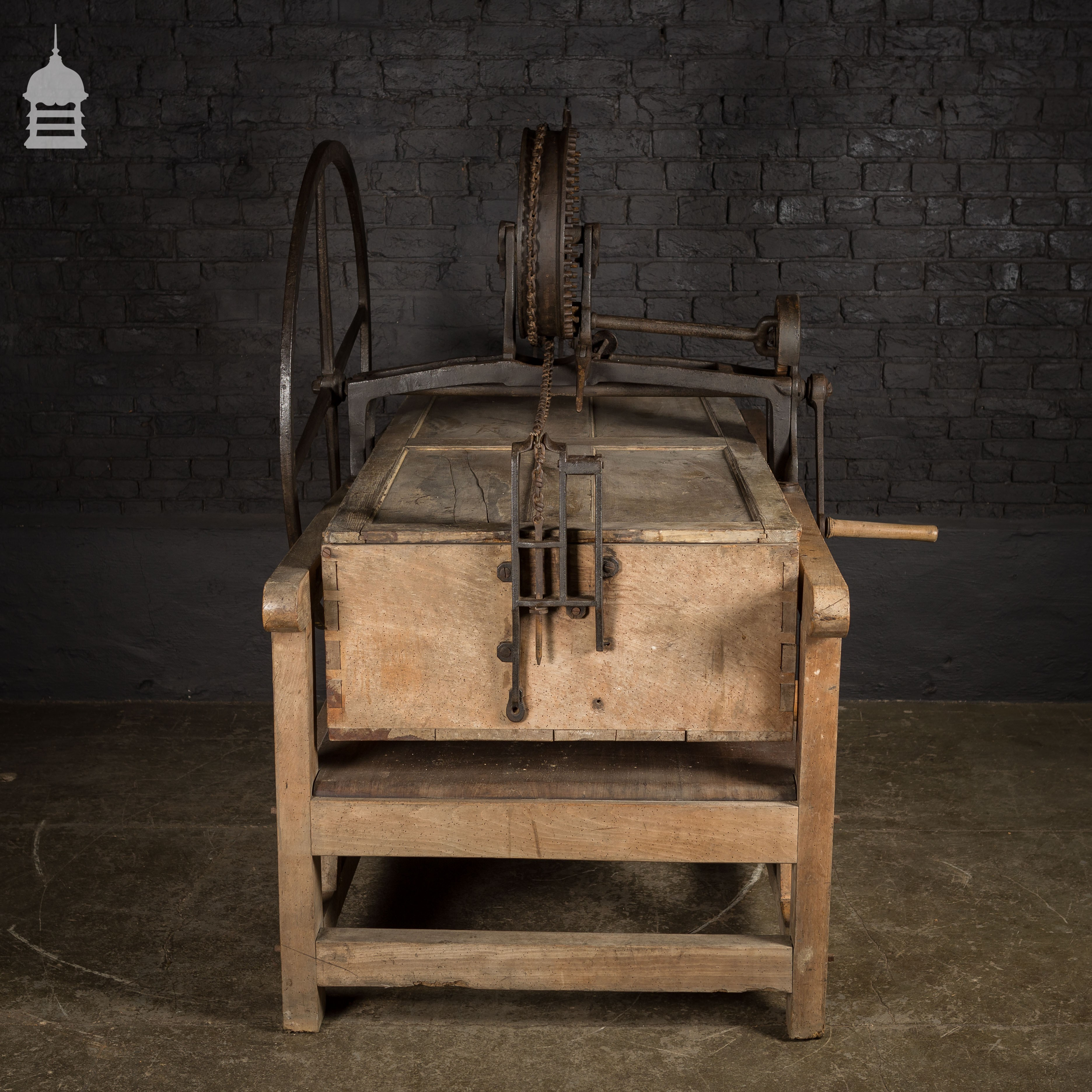 Unusual victorian baker box mangle in working condition for Odd victorian names