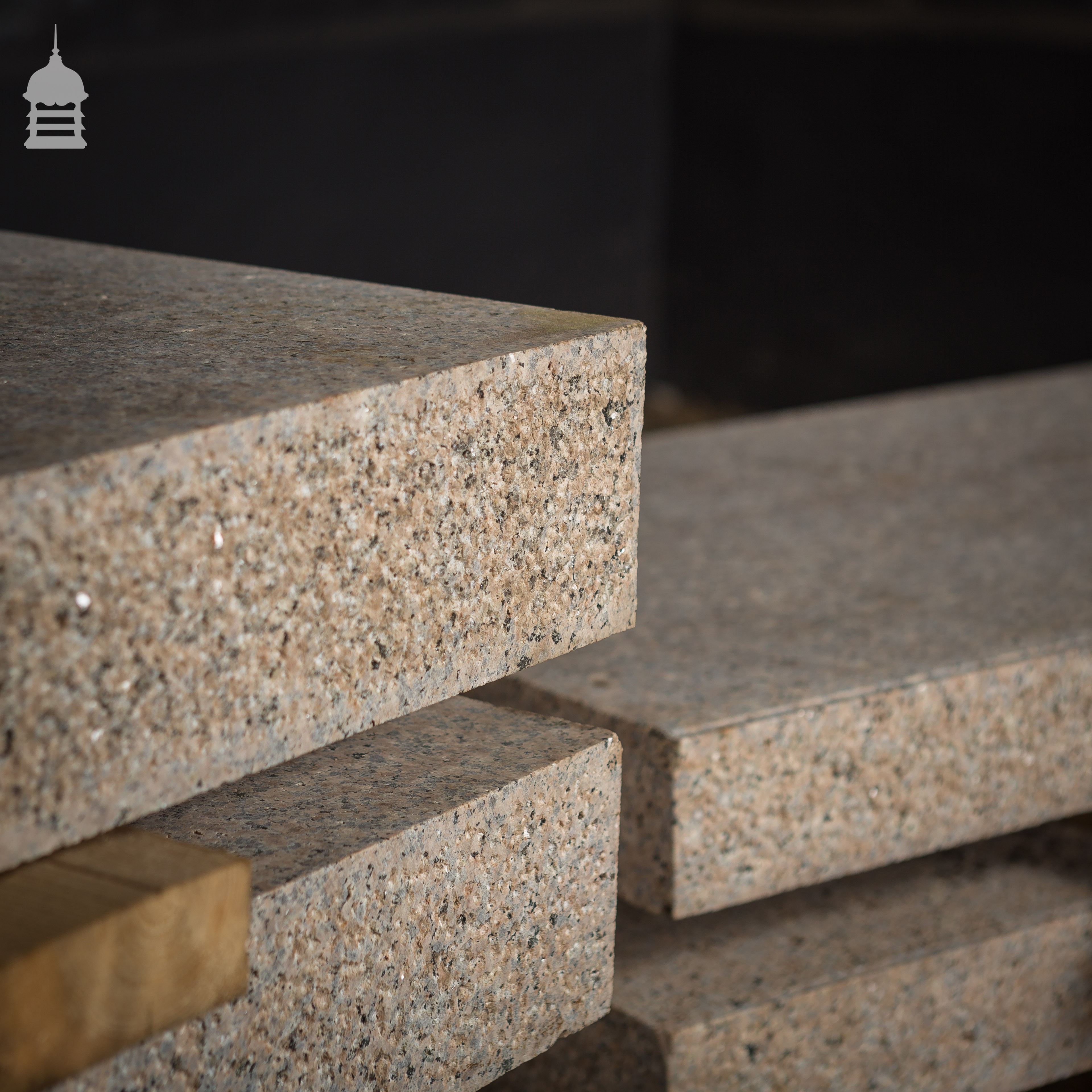 Collection of granite effect composition slabs steps in for Granite slab dimensions
