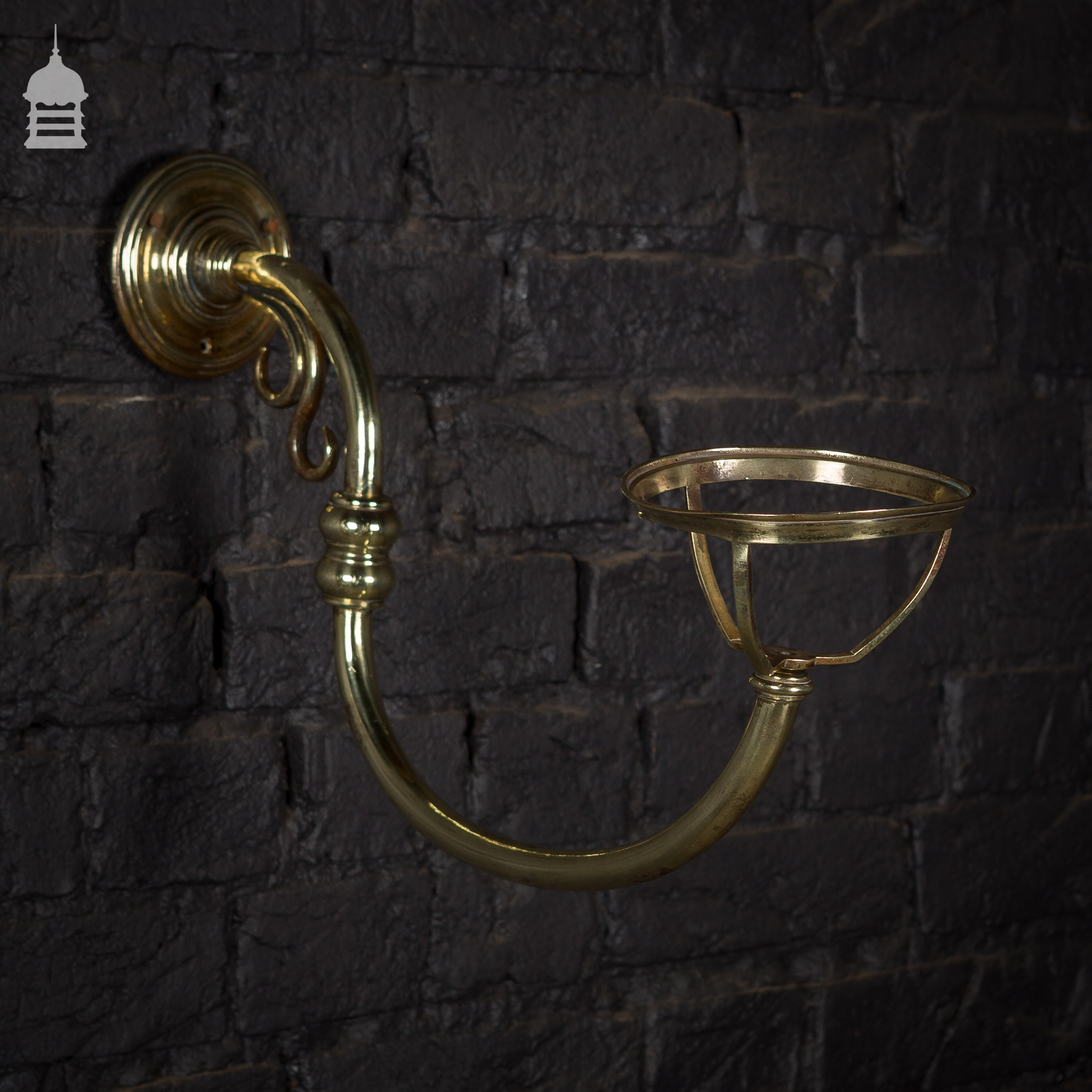 Wall Mounted Gas Lamps : Pair of Brass Wall Mounted Gas Light Fittings