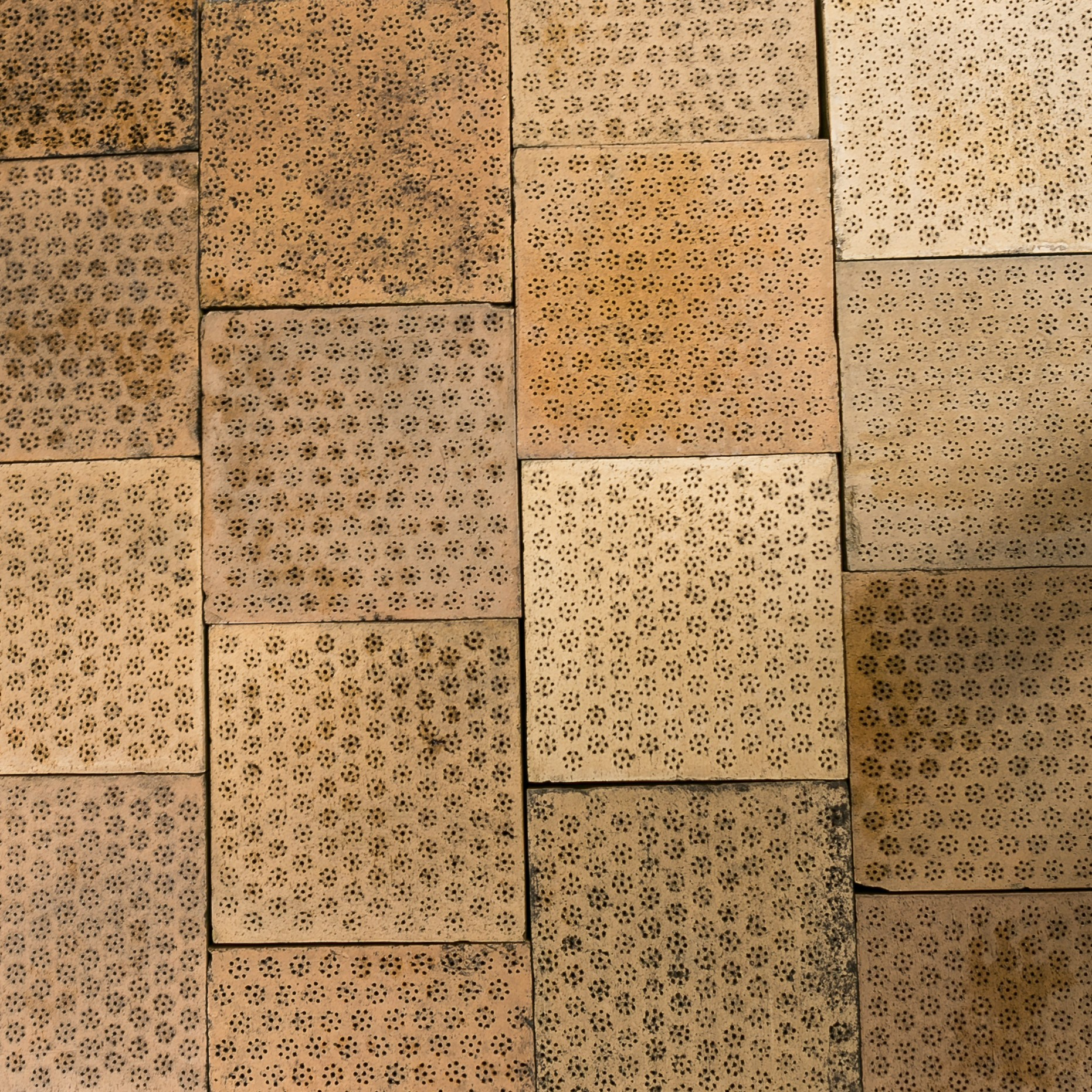 Reclaimed 12 inch clay malting tiles floor tiles for 12 floor tiles