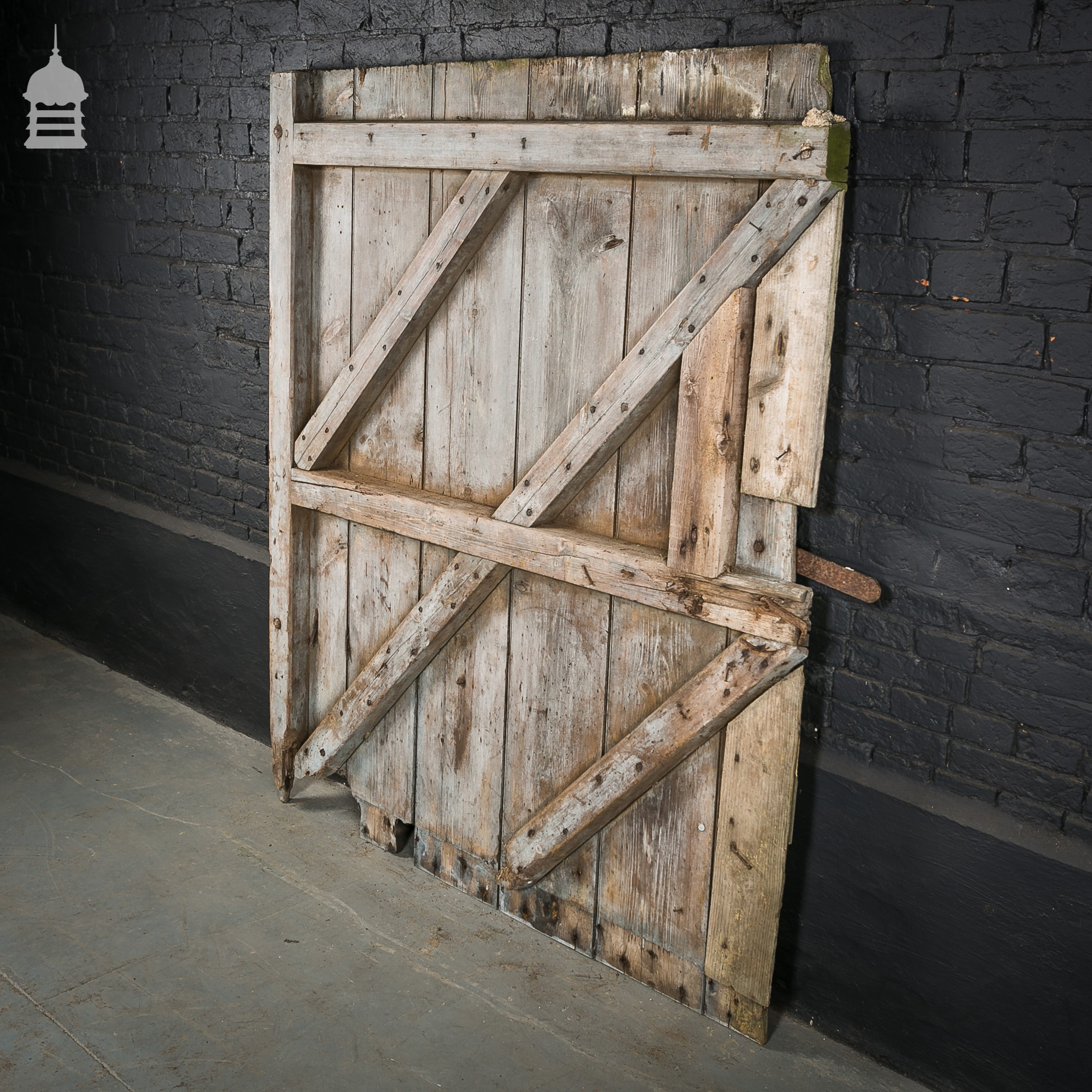 Large ledged and braced pine barn door for Oversized barn doors