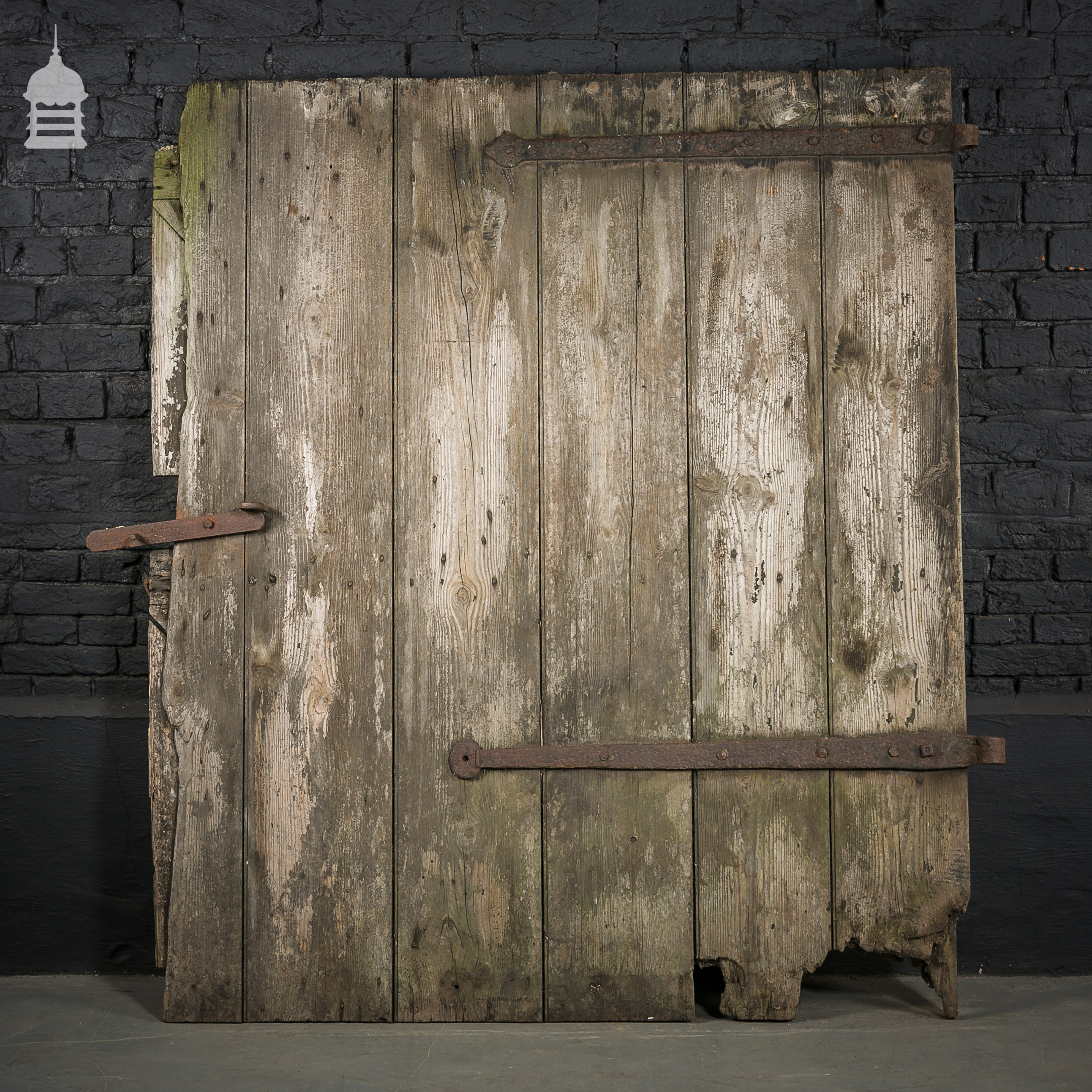 Large ledged and braced pine barn door picclick uk for Oversized barn doors