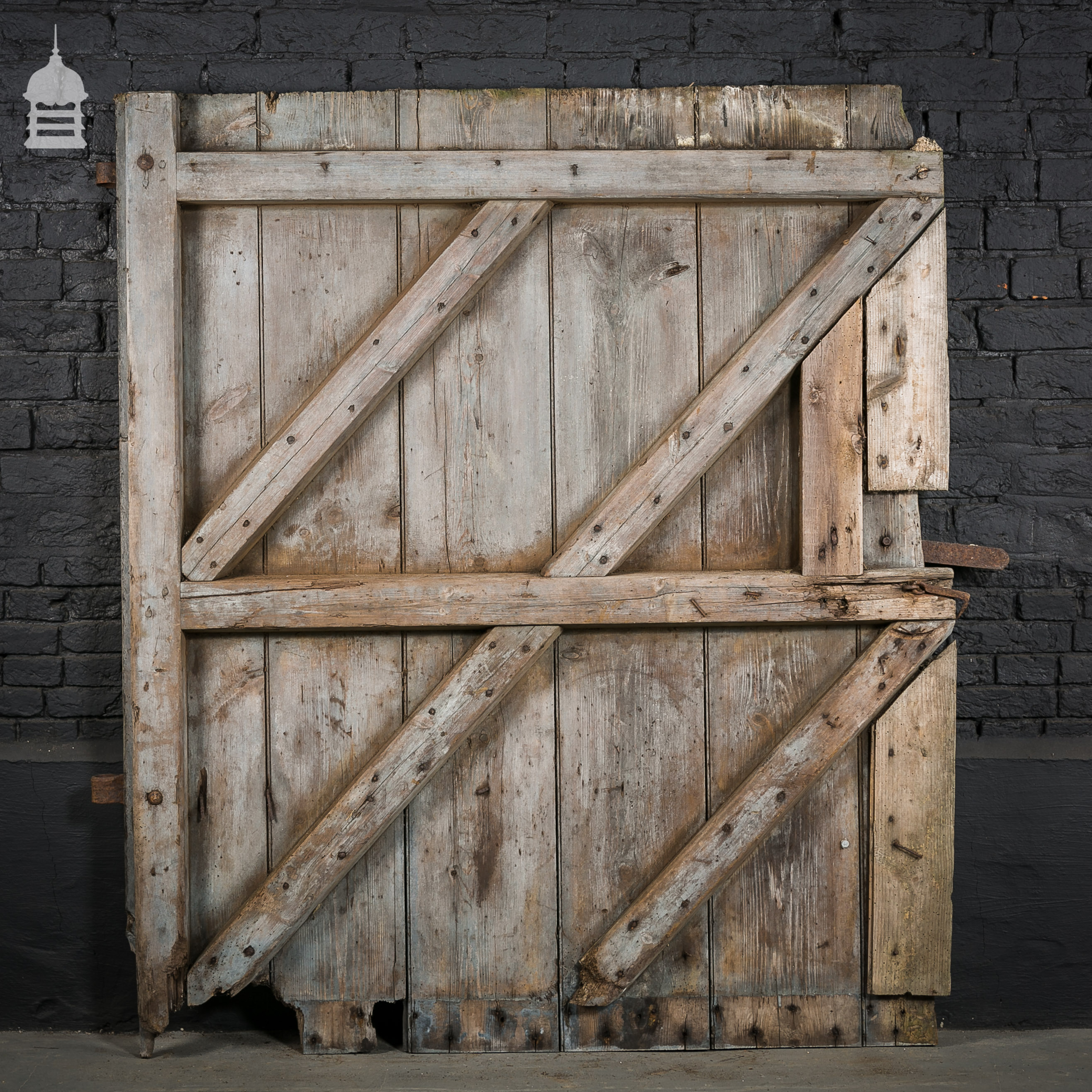 Large ledged and braced pine barn door ebay for Oversized barn doors