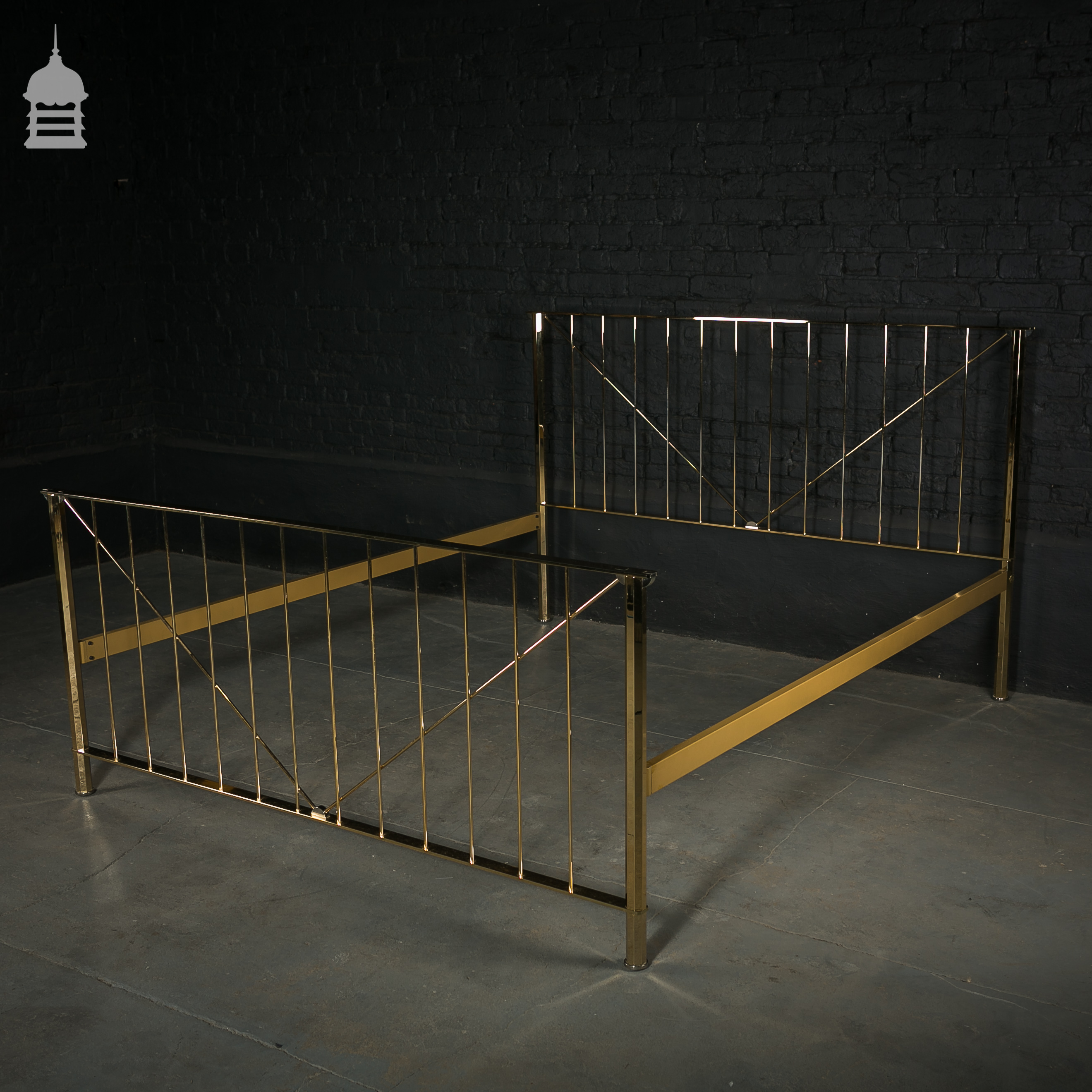 22 Carat Gold Plated Bed Frame Salvaged from a Home in Knightsbridge