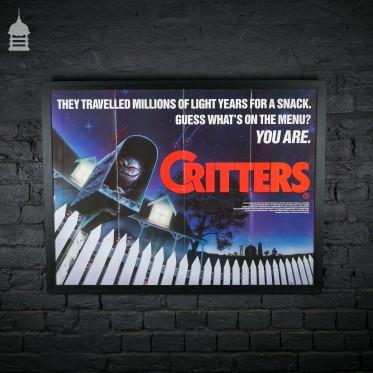 Original Framed 'CRITTERS' Quad Movie Poster