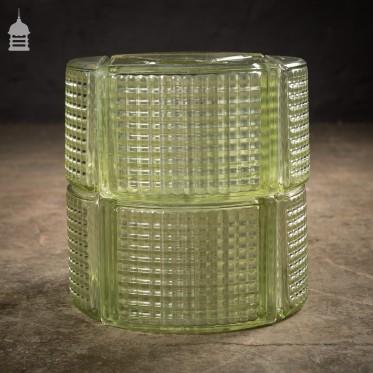 Batch of 17 Curved Glass Corner Blocks Bricks