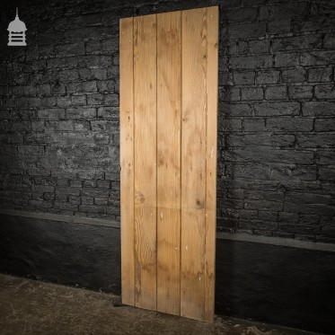 19th C Pitch Pine Internal Ledged and Braced Cottage Door