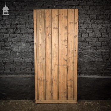 19th C Pine Ledged and Braced Cottage Door