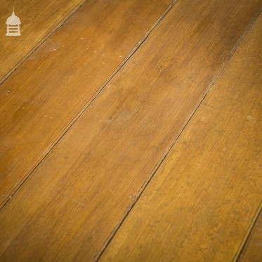 """Batch of 26 SqMs of 12"""" Wide 19th C Beaded Pine Match Board Wall Cladding with Grained Finish"""