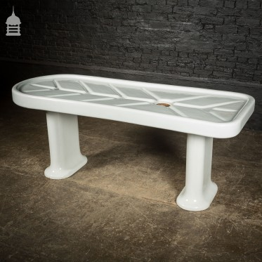 Royal Doulton Autopsy Morgue Mortuary Slab Table with Legs and Brass Drain