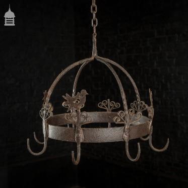 18th C Blacksmith Made Wrought Iron Game Hanger Hooks
