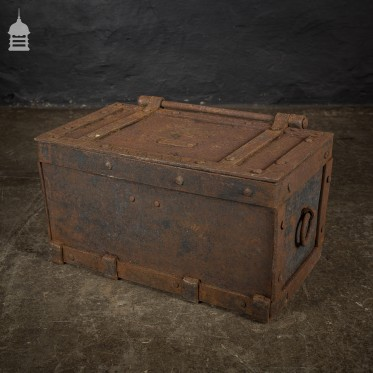 Georgian Iron Strong Box from a Church Stamped 1814 in Roman Numerals
