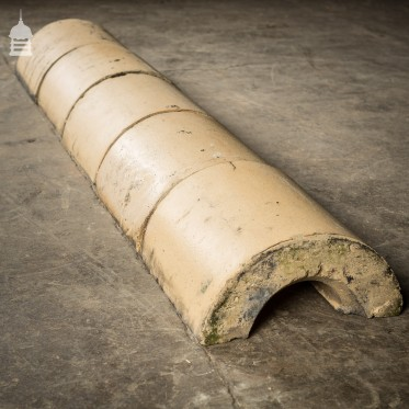 Batch of 54 Reclaimed Buff Half Round Wall Copings – 12 Metres