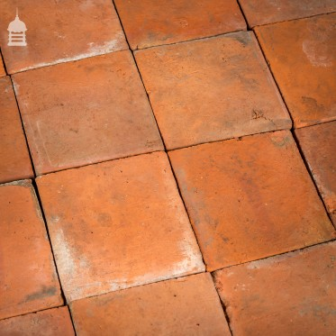 """Batch of 98 Reclaimed 8.5 x 8.5"""" Red Quarry Tiles – 4.5 Square Metres"""