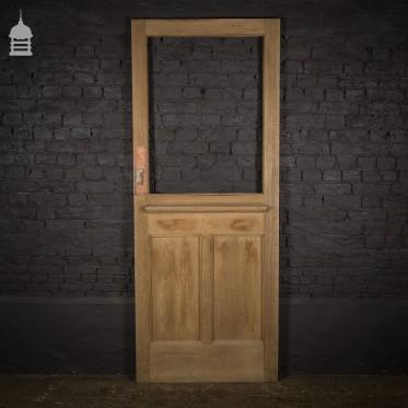 Stripped Edwardian Half Glazed Oak Shop Door Front Door