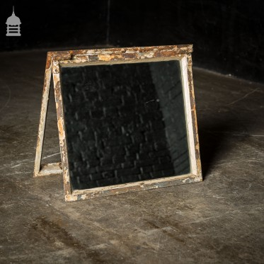 Vintage Cast Iron Crittall Window Frame with Mirror Glass