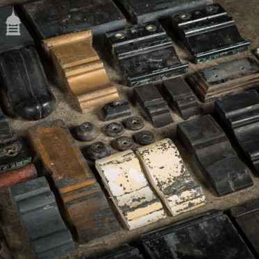 Assortment of Reclaimed Slate Fireplace Corbels and Parts