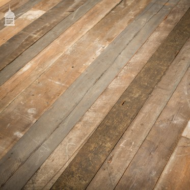 Batch of Approximately 80 Square Metres of Mixed Width Oxidised Pine Wall Cladding