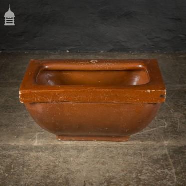 Large Victorian Salt Glaze Orange Peel Ceramic Trough Sink by Oats & Green LTD Halifax