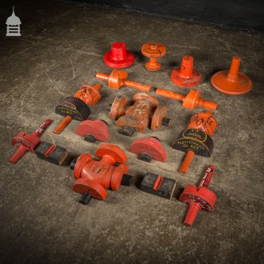 Batch of 16 Red Industrial Factory Foundry Moulds