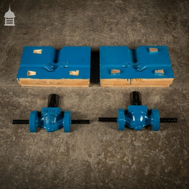 Batch of 4 Blue Industrial Factory Foundry Moulds