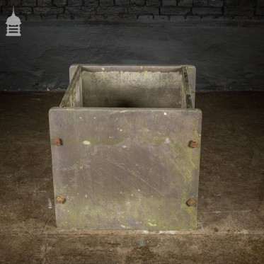 Reclaimed 19th C Slate Cistern Tank Planter with Iron Bolts