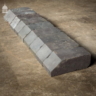 Batch of 9 Angled Chamfered Staffordshire Blue Cant Plinth Bricks