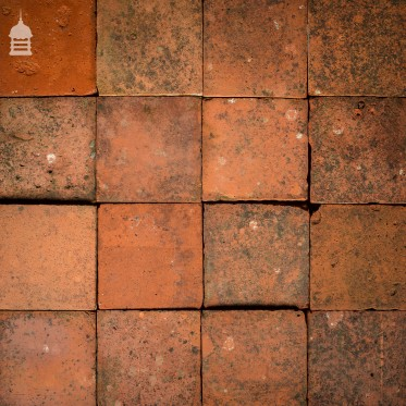 """Batch of 67 Reclaimed 9"""" x 9"""" Red Quarry Tiles – 3.5 Square Metres"""