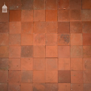 "Batch of 493 Reclaimed Grade A Red 4.25"" x 4.25"" Quarry Tiles - 5 Square Metres"